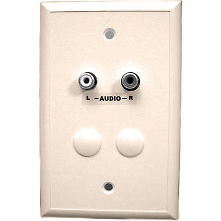 Ivory Cat5 Wall Plate with Dual RCA Audio