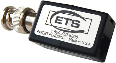 ETS PV848S Composite Video Over CAT5 Extended Baseband Video Balun Male BNC to Screw Terminals