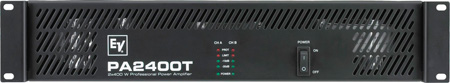 EV PA2400T Dual 400 W Per Channel Power Amplifier