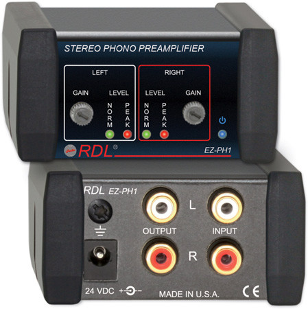 RDL EZ-PH1 Stereo Phono Preamplifier