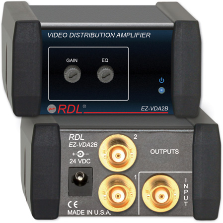 RDL EZ-VDA2B 1x2 NTSC/PAL Video Distribution Amplifier on BNC