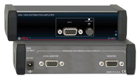 RDL EZ-VM12 VGA/XGA Distribution Amplifier - 1x2