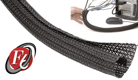 TechFlex - 1/4 Inch F6-Self Wrap Sleeving - Black 100ft