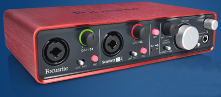 Focusrite Scarlett 2i4  2 In / 4 Out USB Audio Interface