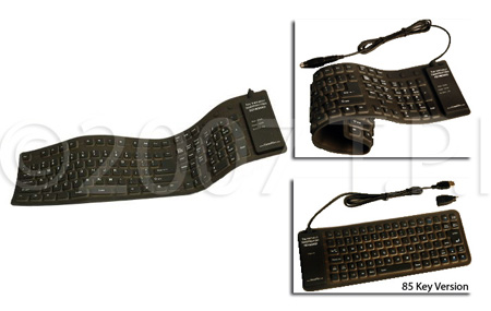 Full Size 109 Key Flexible Roll-Up USB Keyboard