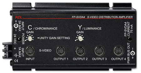 RDL FP-SVDA4 S-Video Distribution Amplifier - 1x4