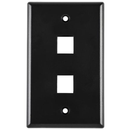 Hellermann-Tyton FPQUAD-SS Stainless Steel Keystone Flushmount Faceplate - Four Port