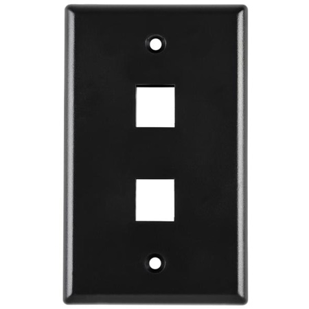 Two Port Flushmount Faceplate White