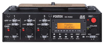 Fostex DC-R302 3 Channel Mixer/2 Channel Flash Recorder for DSLR Camera