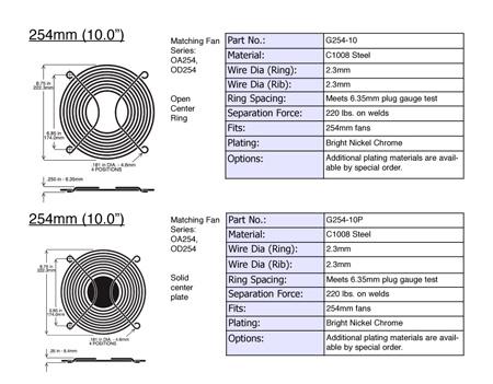Orion Fans G254-10P 254mm (10 Inch) Steel Wire Guard