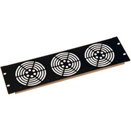 Gator GE-PNL-FAN3 3U Vented Fan Panel
