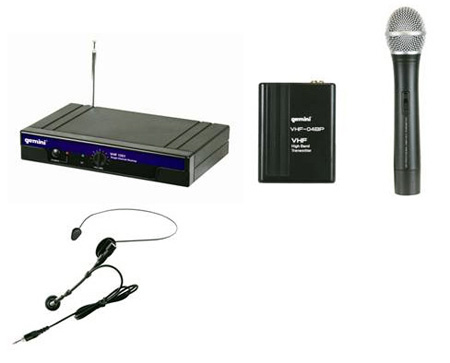 Gemini VHF-1001HL Single Channel VHF Wireless System Headset/Lavaliere