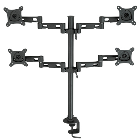 Bentley Mounts D800 Vertical Quad Monitor Stand for 13-24 Inch Screens