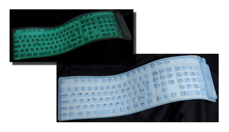 Full Size 109 Key Flexible Roll-Up USB Keyboard With Illuminated Keys