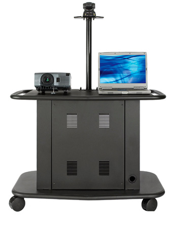 Avteq GM-200P 32inch Tall Cart w/ Adjustable Height Camera Platform