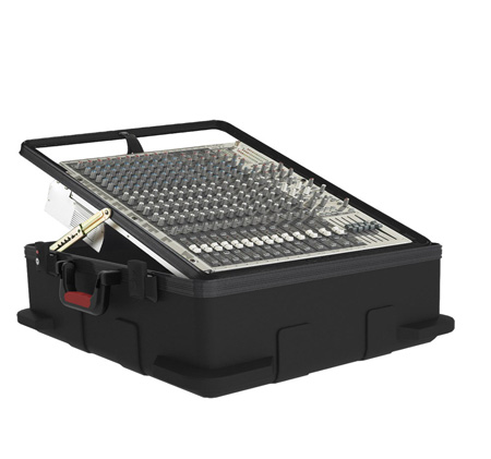 Gator GMIX-12PU-TSA Pop-Up Mixer Case w/TSA Latches - 12U - 6.5in Deep