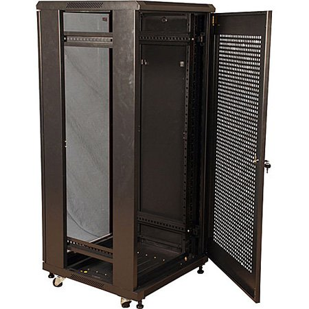Gator GR-FS4B4739MDB 47U 39 Inch Deep Rack / Glass Door - Knock Down