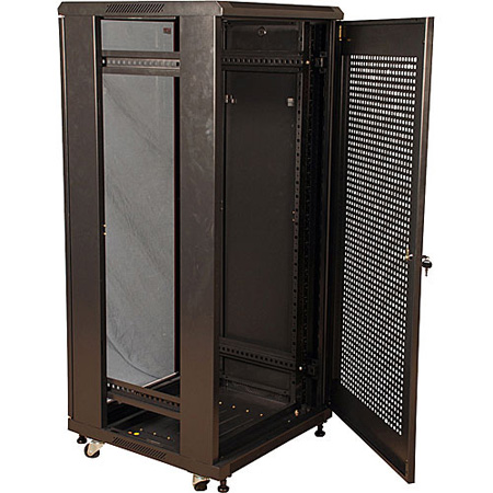 Gator GR-FS4B2723TDB 27U 23 Inch Deep Rack w/Glass Door - Knock Down