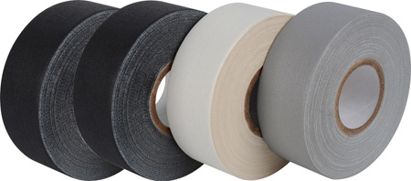 Pro-Gaff Gaffers Tape GT1-12-4PK 1 Inch x 12 Yards Mini Rolls-4 Pk 2-Black 1-Gray 1-White