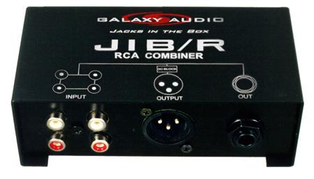 Galaxy Audio JIB/R Jacks In The Box RCA Combiner
