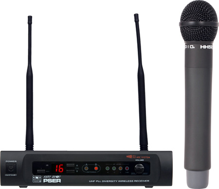 Galaxy Audio PSER/HH52 16 Channel UHF Handheld Wireless Mic System