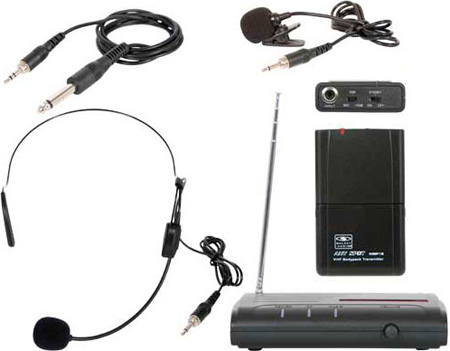 Galaxy Audio VESR/318 Single Channel VHF Bodypack Microphone System 173.8 MHz