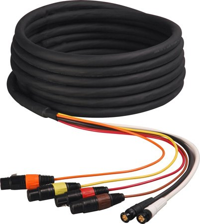 2 Channel HD-SDI Video and 4-Channel XLR Audio Snake Cable 50 Foot