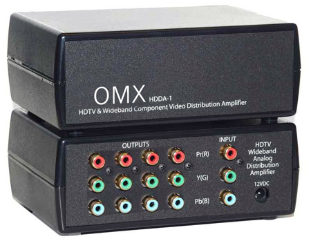 HDTV Component Analog 1x4 Distribution Amp