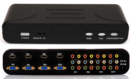 4-Format 3 x 1 Switch with HDMI  VGA Component and Composite Video