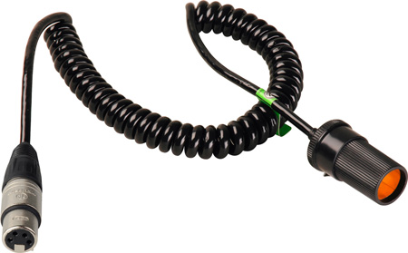Connectronics Heavy Duty  XLF4 To Cigarette Plug High Power Cable 10Ft Coiled