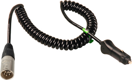 Connectronics Heavy Duty  XLM4 To Cigarette Plug High Power Cable 10Ft Coiled