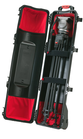 HPRC 6400WTRI Black Wheeled hard case for tripods int kit