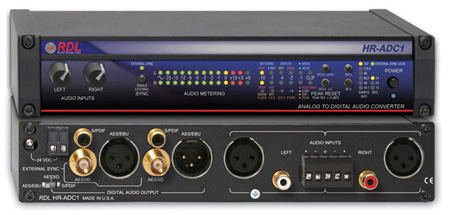 RDL HR-ADC1 Analog to Digital Audio Converter