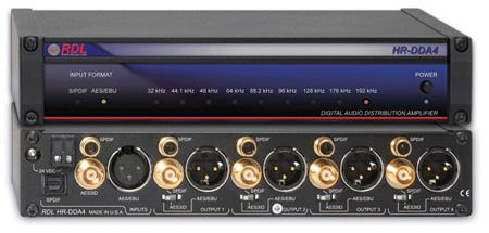 RDL HR-DDA4 Digital Audio Distributor - 1x4