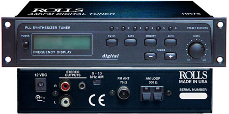 Rolls HR78 Digital Half-Rack AM/FM Tuner