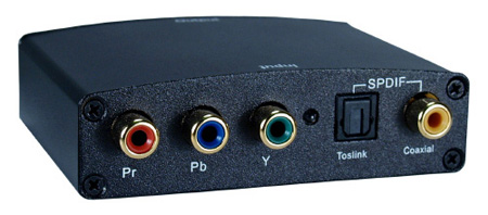 Component Video & SPDIF Toslink Audio to HDMI Digital Video Converter