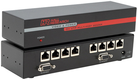 Hall Research Technologies UV8-S Video and Phantom Power over UTP Extender