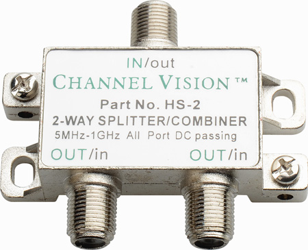 Channel Vision HS-2 2-Way Hybrid Splitter/Combiner