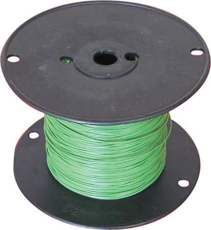 22 AWG 300V Stranded Hook-Up Wire 100 Foot Spool Green