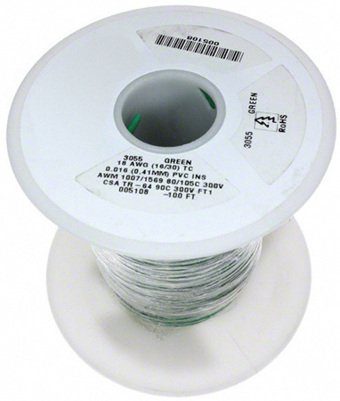 26 AWG 300V Stranded Hook-Up Wire 100 Foot Spool Blue