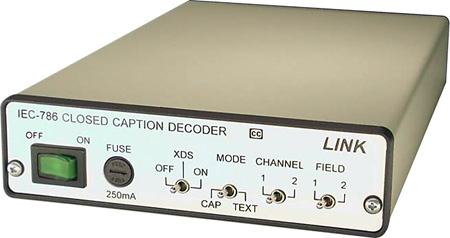 Link Electronics IEC-786 Two Field Closed Caption Decoder