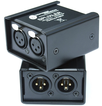 Interspace Industries SPLIXLER 2 Male to 2 Female XLR Splitter