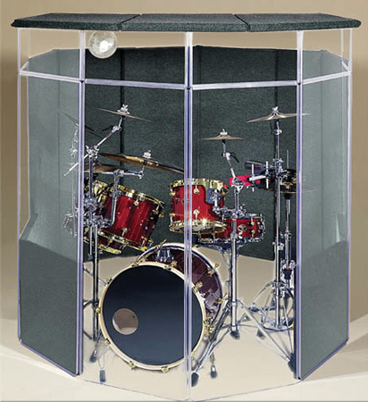 ClearSonic IsoPac B Drum Acoustic Isolation Booth w/ Closed Roof (Light Gray)