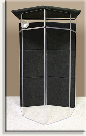 ClearSonic IsoPac G Small 6-Section Acoustic Isolation Booth Dark Gray