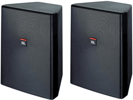 JBL Control 28 Two-Way High Output Indoor Outdoor Background/Foreground Loudspeaker - White (PAIRS)