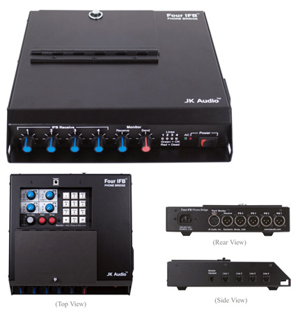 JKAudio Four IFB - A Four Position Analog Telephone Line Interface