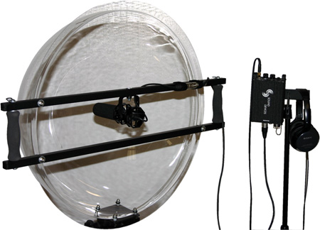 JonyShot Parabolic 24In Clear Acrylic Dome w/Isolated Mic Mount (Mic Not Included)