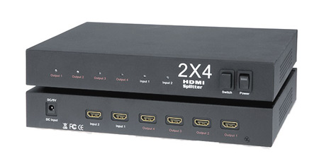 KanexPro HDSP2X4 HDMI 2x4 Splitter with Full HD 1080p