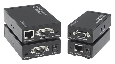 KanexPro VGAEXTX1 1x1 VGA w/Audio CAT5 Extender System (Trans & Rec)