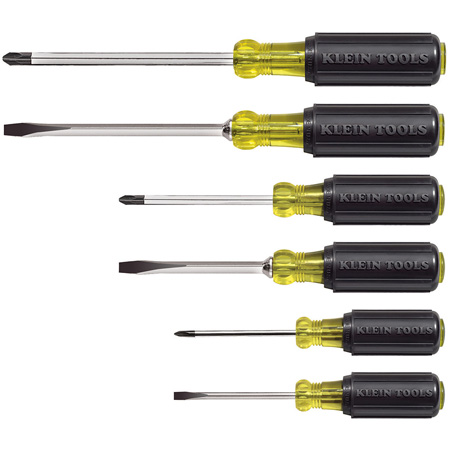 Klein Tools 85074 6pc Cushion-Grip Screwdriver Set